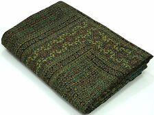 Cotton Blanket Throw Kantha quilt Bedsheet Ajrakh Bohemian King size Quilting