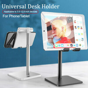 Universal Metal Desk Holder Phone Tablet Stand For iPhone 11 iPad Pro Cell Phone