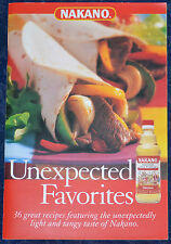 NAKANO ***Unexpected Favorites*** 36 RECIPES ILLUSTRATED COOKBOOK, 2008