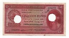 INDIA PORTUGAL 50 RUPIAS 1945 PICK 38 LOOK SCANS