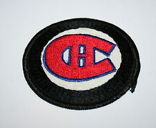 Vintage NHL Black Montreal Canadians Hockey Team Cloth Patch 1960s New NOS
