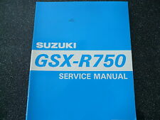 SUZUKI GSX R 750 Model Year 1995 Water-Cooled Service Manual