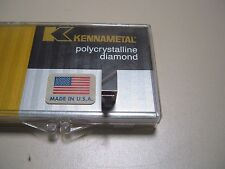 14 PCS KENNAMETAL DIAMOND TIP INSERTS - NG4109R TOP NOTCH #4 GRADE KD100