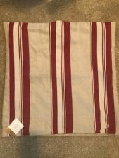 "pottery barn greer pillow, red and cream stripes, 22""w, cover only"