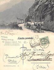 Kt. Graubünden Alpenpost POSTA ALPINA A CAVALLO vg. Spügen-Cogne 1904 (R-L 168)