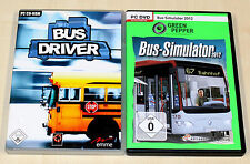 2 PC SPIELE BUNDLE - BUS SIMULATOR 2012 & BUS DRIVER - PC DVD - SIMULATION