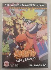 naruto unleashed dvd 1-5 promo edition - manga dvd naruto