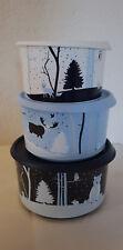 Tupperware Zauberwald 3x Bingo Glitzer Winter Weihnachten Set Schüssel NEU & OVP