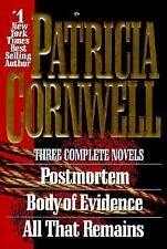 3 Patricia Cornwell Novels: Postmortem; Body of Evidence; All That Remains HBDJ