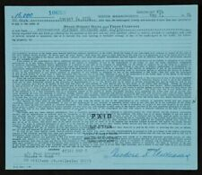 1974 Ted Williams Boston Red Sox Signed Loan Document PSA LOA