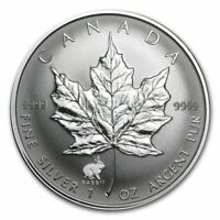 1999 1 oz Canada Silver Maple Lunar Rabbit Privy Coin (BU)