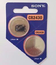 SONY CR2430 BATTERIES BATTERY 2430 DL2430 KRC2430 BUTTON 3V expire 2029 X 2