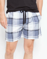 Shorts Mens Cyberjammies Aspen Woven Blue Check Short Size Small only