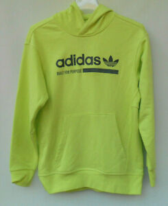Youth Adidas Neon Yellow Built For Purpose 1925MXXX Hoodie Sweatshirt Size L