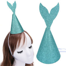 Glitter Mermaid Tail Party Hats Girlfriends Birthday Party Hat Fashion Funny ft