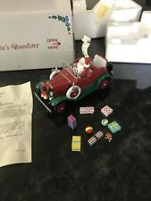 Danbury Mint Ford Model A Roadster with Santa Claus Special Red and Green Nib
