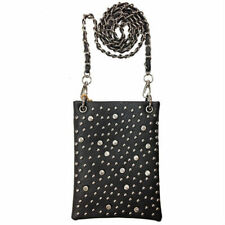 Mini Bag Rhinestone Bling Stud Messenger Bag Purse Handbag Gray Grey