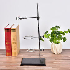 Chemistry Laboratory Retort Base Stand.Support Lab Flask Clamp+3 Ring Clamp OI