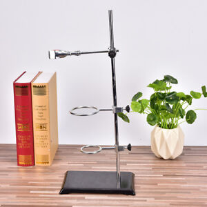 Chemistry Laboratory Retort Base Stand.Support Lab Flask Clamp+3 Ring Clam.H Fs