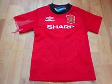 MANCHESTER UNITED MAN UTD VINTAGE 1994-1996 94-96 HOME 4-5 BOYS SHIRT CANTONA #7
