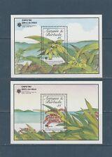 Barbuda  bloc 150/151 de 1990  fleurs surchargé Barbuda mail  neuf   **
