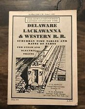 Vtg 1939 Delaware Lackawana Western Railroad RR Steam Electric Train Timetable