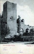 """VITERBO : Torre della Bella Galliana """" Viaggiata 1902"""