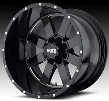 Moto Metal 962 20x10 Gloss Black Wheels Ford Chevy Dodge Jeep 20x10 -24 offset