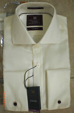 "M&S Collection Luxury Pure Cotton Non-Iron Shirt Ivory   14.5"" Regular Fit BNIP"