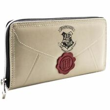 NEW OFFICIAL HARRY POTTER LETTER CREAM COIN & CARD ZIP AROUND PURSE