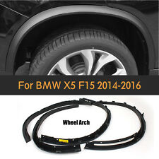 4PCS Wheel Arch Side Fender Flares Molding Trims Fit for BMW X5 F15 2014-2016