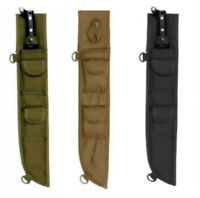 "18"" Machete Sheath MOLLE Compatible Heavy Duty Rothco Black OD Coyote Brown"