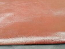 REED LEATHER HIDES - WHOLE SHEEP SKIN 7 to 10 SF - Rust Brown Color