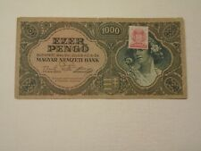 HUNGARY 1945 1000 PENGO CIRCULATED BANKNOTE P-118b.1     (2)
