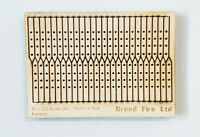 100 x Model Railway Laser Cut 4ft Fencing Kit OO 1:76 Scale Ply Wood Miniature