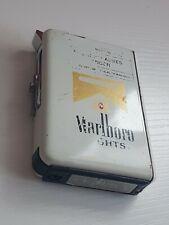 MARLBORO CIGARETTE CASE & LIGHTER METAL HOLDER BOX