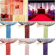 Glitter String Curtains Patio Net Fringe Door Fly Screen Windows Room Divider UK