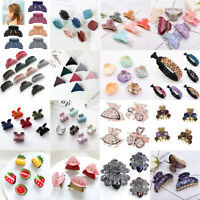 Women Acrylic Crystal Hair Claw Clips Barrette Crab Clamp Girls Hair Accessories