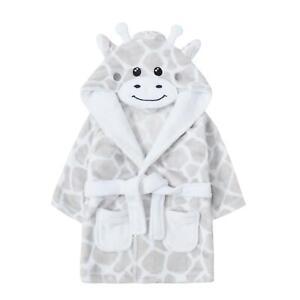 Babies Novelty Grey Giraffe Dressing Gown 6-24 Months