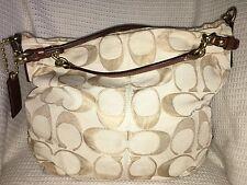 COACH Signature Jacquard Large BROOKE Convertible Hobo Handbag Purse Bag-14818