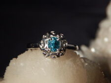 1.13 Ct. Oval Blue Zircon Ring Simple Sterling Silver