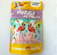 Jigsaw Puzzle 48 Piece Bag Flamingo Puzzle Family Fun Game (NEW)