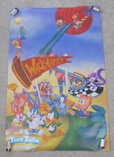 """Vintage 90s Wb Tiny Toon Adventures Wackyland Poster 32"""" x 21"""" Babs Buster Porky"""