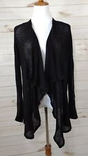 Helmut Lang open front sweater black womens large casual thin career *read
