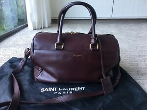 $2,170 Auth Saint Laurent Classic 6 Hour Duffle Bag in Burgundy