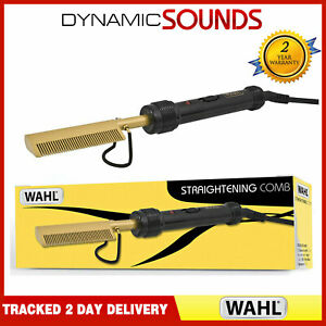 Wahl Afro Mains Electric Straightening Comb Gold/Black ZX698 2.8m Swivel Cord