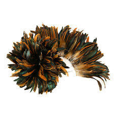 "Zucker™  7-10"" Half Bronze Natural Coque Tails Long Feather Trim (Bulk)"