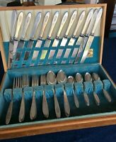 Birds of Paradise, 1923, Community by Oneida Silver Plate Flatware, 41 Pieces