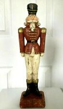Old World Rustic 16� Resin Nutcracker Handmade Collectible Figurine Rare