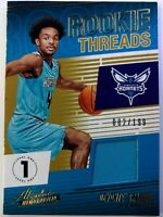 2018 Panini Rookie Threads Level One Devonte' Graham Rookie RC Jersey, #'d /199